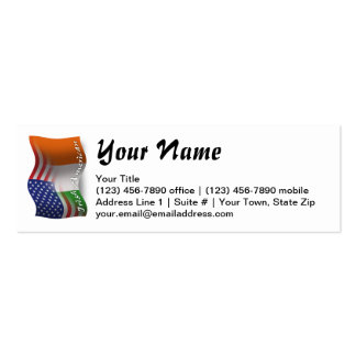 Irish-American Waving Flag Pack Of Skinny Business Cards
