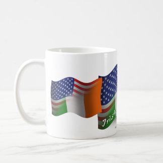 Irish-American Waving Flag Coffee Mug