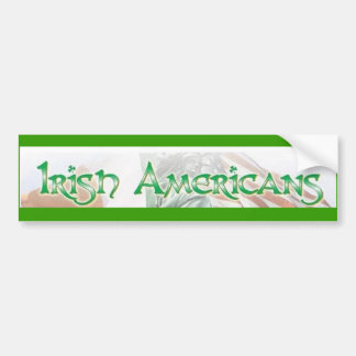 IRISH AMERICANS CAR BUMPER STICKER