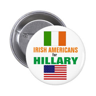 Irish Americans for Hillary 2016 6 Cm Round Badge