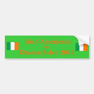 Irish Americans for Obama Biden 2012 Bumper Sticker