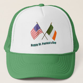 Irish and American Flags Trucker Hat