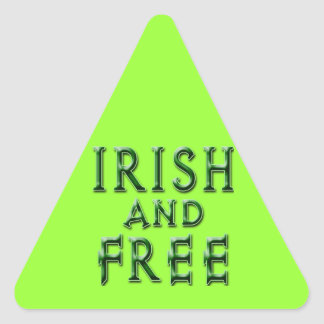 IRISH and FREE for St. Patrick's Day Stickers