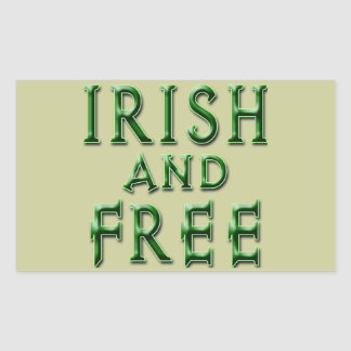 IRISH and FREE for St. Patrick's Day Rectangle Stickers