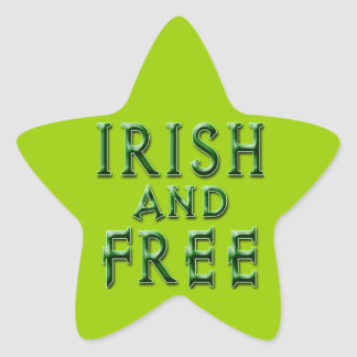 IRISH and FREE for St. Patrick's Day Star Stickers