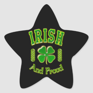 Irish And Proud Star Sticker