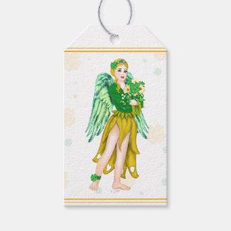IRISH ANGEL CARTOON GIFT TAG MATT