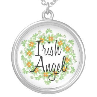 Irish Angel Shamrocks Necklace Custom Jewelry