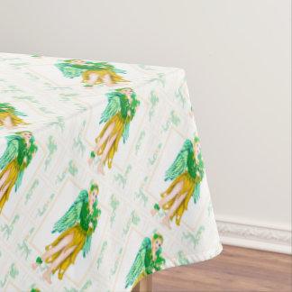 "IRISH ANGEL ST-PAT Tablecloth COLOR LIPS 60""x84"""