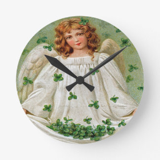 Irish Angel Wall Clock, Ireland Round Clock