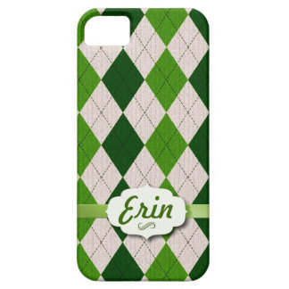 Irish Argyle with name tag iPhone 5 Case