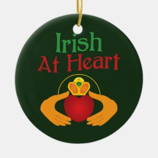 Irish At Heart Ceramic Ornament
