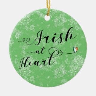 Irish at Heart, Christmas Tree Ornament, Ireland Ceramic Ornament