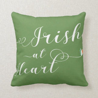 Irish At Heart Throw Pillow