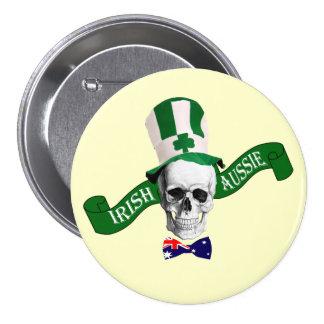Irish Aussie  St Patrick's day 7.5 Cm Round Badge