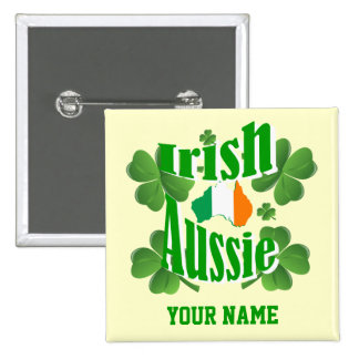 Irish Australian St Patrick's day 15 Cm Square Badge