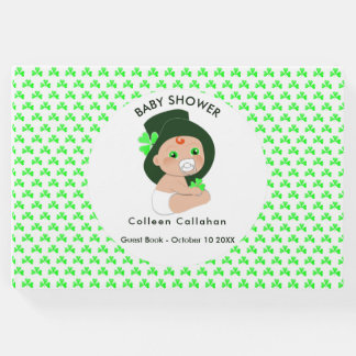 Irish Baby Leprechaun Lucky Shamrock Baby Shower Guest Book