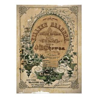 Irish Ballad Sheet Music Invite