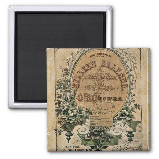 Irish Ballad Sheet Music Refrigerator Magnets