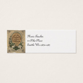 Irish Ballad Sheet Music Mini Business Card