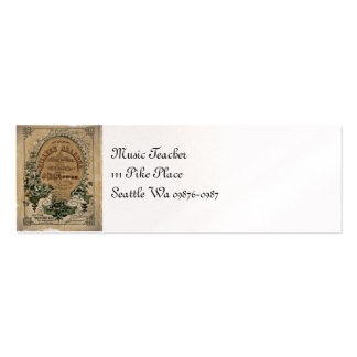 Irish Ballad Sheet Music Pack Of Skinny Business Cards