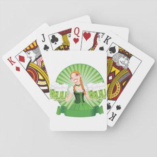 Irish Bar Maid Playing Cards