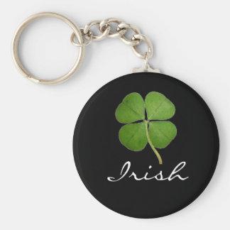 Irish Basic Round Button Key Ring