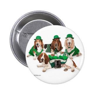 Irish Basset hound quartet Buttons