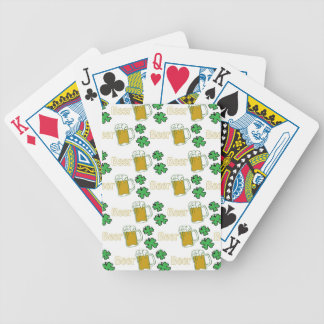 Irish Beer Clovers Bicycle Playing Cards
