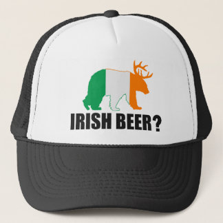 Irish Beer?  Ireland Flag Bear Deer Hat