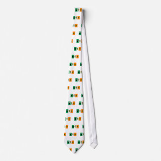 Irish Beer Leprechaun Clover Flag Cartoon Tie