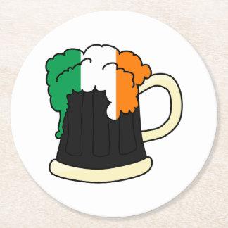 Irish Beer Round Paper Coaster
