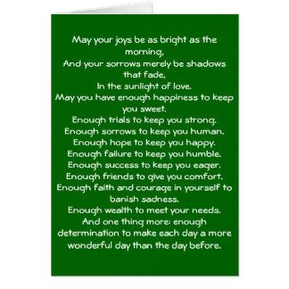 Irish Blessing 4 Card