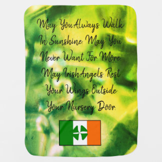 Irish Blessing Baby Blanket