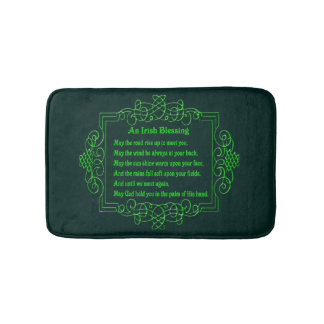 Irish Blessing Bath Mat Bath Mats