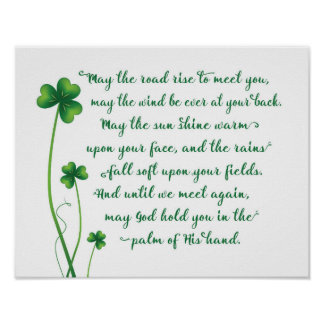 Irish Blessing Calligraphy Print