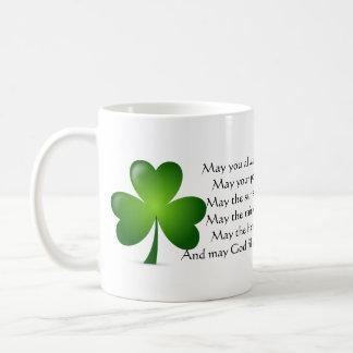 Irish blessing coffee mug