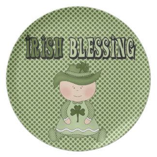 Irish Blessing Girl St Patrick s Day Kids Plate