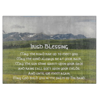 Irish Blessing Green Valley Photo Cutting Board