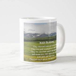 Irish Blessing Green Valley Photo Jumbo Mug