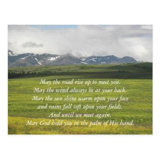Irish Blessing Green Valley Photo Postcard