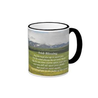Irish Blessing Green Valley Photo Ringer Mug
