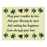 Irish Blessing Happiness Poster