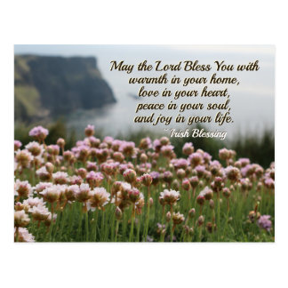 Irish Blessing, Love in Your Heart, Cliffs Ireland Postcard