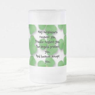 Irish Blessing Mug-May neighbours respect you
