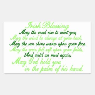 Irish Blessing Rectangular Sticker