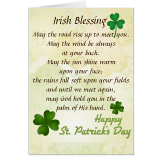 Irish Blessing St. Patrick's Day Custom Card