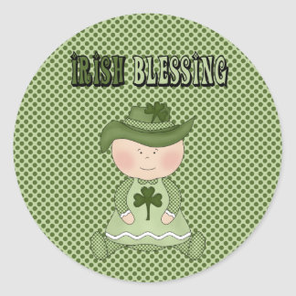 Irish Blessing St. Patrick's Day Stickers Seals