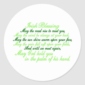 Irish Blessing Round Sticker