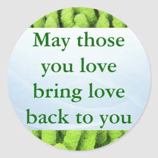 Irish Blessing stickers Round Sticker